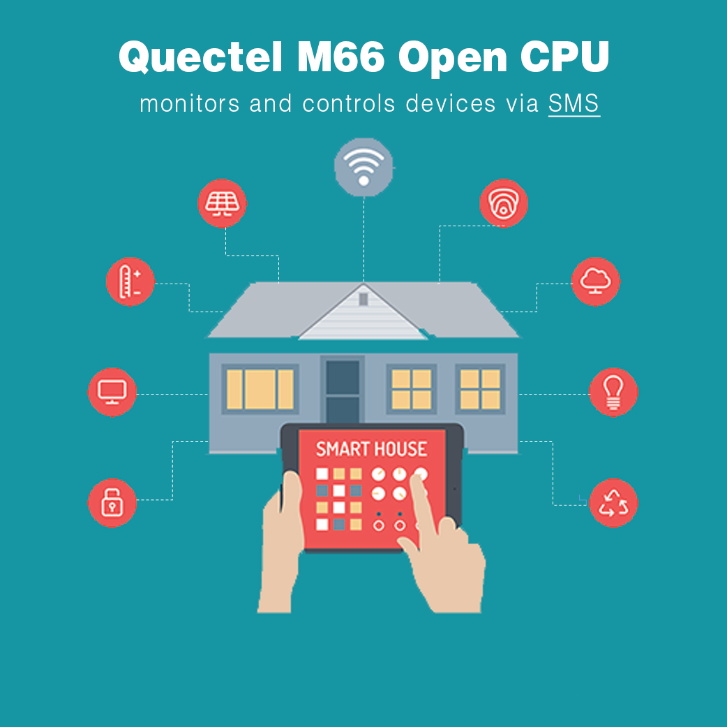 Quectel M66 OpenCPU monitoring and control device via SMS